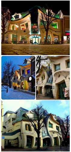 """""""Crooked House"""", is a shopping center in Sopot, Poland"""