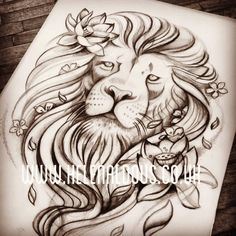 the lion symbolizes the courage, beauty and strength.