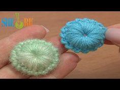 ▶ Crochet Puffy Round Button Tutorial 7 Reverse Single Crochet Trim - YouTube