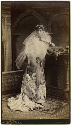 Mrs. John C. Mallory (Jean Turnure) dressed as an Egyptian princess at the Vanderbilt Ball, March 26, 1883. Photograph by Mora.  NYHS Image #71051.