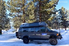 Great photo from Cody's Travel Photography...his Sportsmobile with Aluminess front and rear bumper and ladder...at Mammoth Lakes