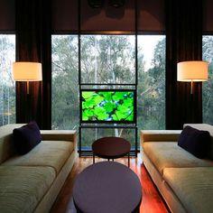 Tv In Front Of Window Design Ideas
