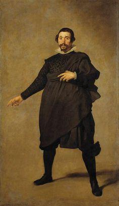 """Pablo de Valladolid"" by VELAZQUEZ  Major Spanish painter of the 17 th century"