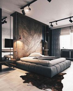 5 Staggering Useful Tips: Minimalist Bedroom Curtains Small Spaces minimalist home with children floors.Minimalist Bedroom Bed Sleep cozy minimalist home loft.Minimalist Home Diy Bedroom Designs. Modern Bedroom Design, Home Interior Design, Contemporary Bedroom, Bedroom Designs, Luxury Interior, Modern Contemporary, Modern Mens Bedroom, Lobby Interior, Modern Bedrooms
