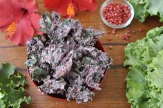 I want to try these!   Hibiscus & Pink Peppercorn Kale Krunch