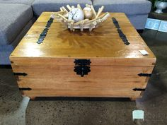 "If you are looking for a rustic coffee table that doubles as extra storage, look no further! This piece is very casual and would be perfect in a family room or game room. The rustic style is super popular right now and the added functionality makes this piece a great buy! Priced at under $100, you can't beat this deal! Dimensions are 36"" x 36"" x17-1/2""."
