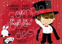 Download Now Magic Birthday Party Invitations  Download this invitation for FREE at http://www.bagvania.com/magic-birthday-party-invitations.html