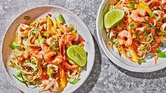 Image: 15-minute prawn satay noodle salad