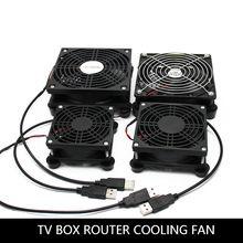 Router Fan Diy Pc Cooler Tv Box Wireless Cooling Silent Quiet Dc