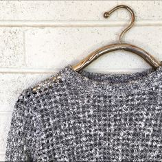 Theory knit sweater Super chic theory knit sweater. Great condition! Size petite but fits a small as shown Theory Sweaters