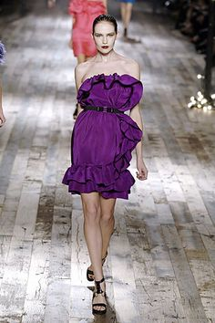 Lanvin Spring 2008 Ready-to-Wear Fashion Show - Rachel Clark