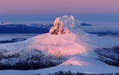 Barn Bluff winter dawn - image by Australian photographer Grant Dixon Dawn Images, Gold Coast Australia, Holiday Resort, Nature Adventure, Adventure Photography, Tasmania, Landscape Photographers, Places To See, National Parks