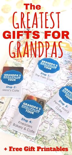 The Greatest Gift Ideas for Grandpas ~ The Gifty Girl Grandpas are some of the hardest people to think of great gifts for. Here are 5 gift ideas for grandpas that you won't find anywhere else plus free printables to make your grandpa gift giving easier! Happy Birthday, Birthday Diy, Birthday Nails, Birthday Cupcakes, Birthday Wishes, Birthday Parties, Bday Gifts For Him, Fathers Day Gifts, Birthday Ideas For Grandpa