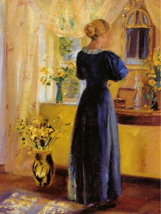 Anna Ancher (1859-1935): Young Woman in Front of a Mirror, 1899