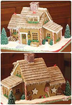 how to make create a treat gingerbread mini village
