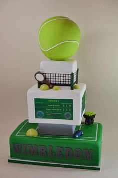 Tennis Cake - For all your cake decorating supplies, please visit craftcompany.co.uk