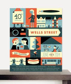 2014 Wells Street Art Festival Poster by Morgan Ramberg, via Behance