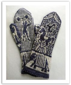 Ravelry: Retro Circus Mittens pattern by Andrea Arbour