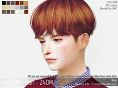 Pretty boy hair for The Sims 4