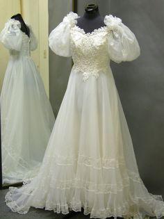 1960's Eve of Milady Chiffon Vintage Wedding Gown by ErmaAndAgnes, $215.00