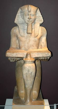 Limestone statue of Ramesses II from Abydos. Ancient Egypt