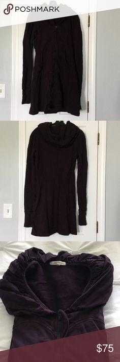 Prairie Underground Long Cloak Hoodie Plum size M women's long cloak hoodie. Looks great with leggings or skinny jeans. Gently worn, in good condition. Prairie Underground Tops Sweatshirts & Hoodies