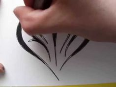 Drawing Initials Inside a Heart Shape - Tribal Tattoo Design Style
