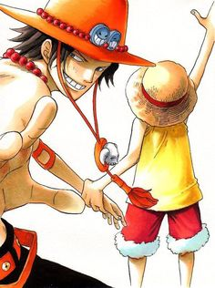Ace and Luffy   D. Brothers   one piece   anime. Manga
