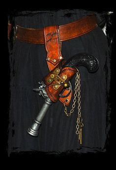Steampunk...replace gun with frying pan