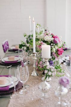 Radiant Orchid Wedding Inspiration: Michelle Leo Events