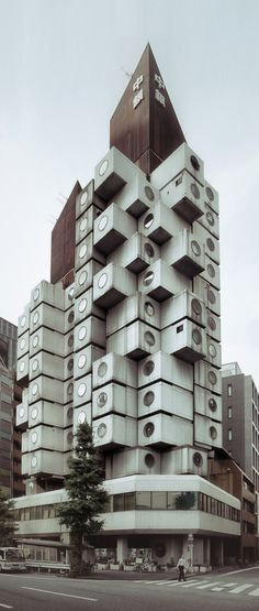 Tokyo - Nakagin Capsule Tower | Architect Kisho Kurokawa, 1972  Super Iconic Building and rare built example of Japanese Metabolism
