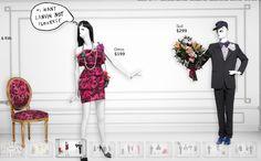 "LANVIN for H&M,(Website Screenshot), ""I WANT LANVIN NOT FLOWERS"", pinned by Ton van der Veer"