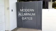 High Tech Aluminum Entry Gate   Mulholland Security Los Angeles 1.800.56... Modern Gates, Ocean Front Homes, Aluminium Gates, Entry Gates, Tech, Entrance Gates, Entrance Doors, Technology