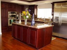 Cherry Kitchen Cabinet Ideas kitchen ideas with dark cherry cabinets - google search | kitchen