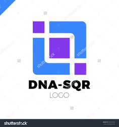 DNA vector logo design template. Modern medical logotype. Laboratory science icon symbol. Colorful pharmacology sign