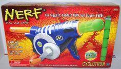 RARE! ** NERF CYCLOTRON ATOM BLASTER/ BALL BLASTER  NEW IN BOX SEALED #NERF