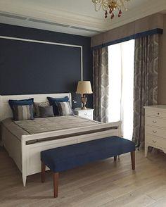 """""""строгая"""" #спальня. Дизайн @adecorshop и @ikrivtsova_design #Шторы и #подушки из коллекции Mamma Mia #galleria_arben"""