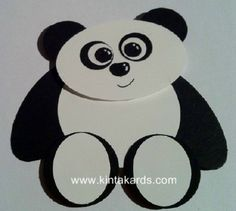 Introducing Poh the Panda Punch Art Kit - KintaKards Creative Card & Gift Packaging Paper Punch Art, Punch Art Cards, Paper Art, Paper Crafts, Kids Cards, Baby Cards, Scrapbooking, Owl Punch, Kids Birthday Cards