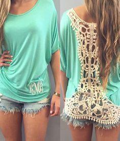 Stylish Dolman Sleeve Scoop Neck Backless Crochet T-Shirt For Women