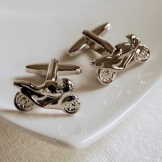Motorbike Cufflinks  Highest Quality  Novelty and by SozoSilver