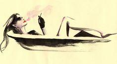 Cigarettes and Bubble Bath - Perfect evening   Regina Yazdi illustration