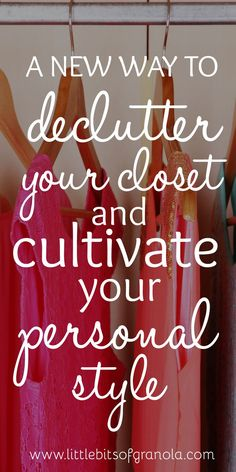 If you've tried the 'BIG PURGE' method of decluttering your closet and you just couldn't bring yourself to get rid of enough clothing to make a difference, this method might be for you. Closet Organization, Simple Living, Getting Organized, Homemaking, Decluttering, Clean House, Happy Life, Good To Know, Cleaning Hacks