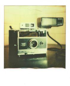Polaroid of a Polaroid 360 | Impossible Project COOL film | Polaroid SX70