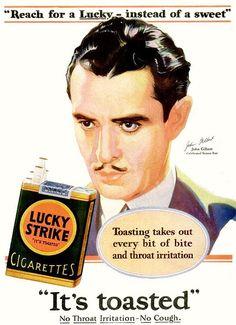 lucky strike john gilbert 1929 by Captain Geoffrey Spaulding, via Flickr