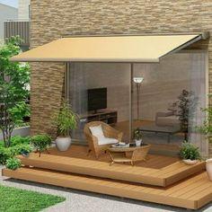 オーニング リクシル 彩風C型 手動式 アクリル 1.5間 間口2730mm 出幅1.25/1.5/2.0m 庇 日除け 窓 後付け 雨よけ おしゃれ リフォーム DIY Outdoor Spaces, Outdoor Living, Outdoor Decor, Greenhouse Cafe, Porch Plans, House Landscape, Balcony Design, Home Deco, Outdoor Furniture Sets
