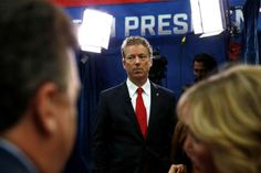 Rand Paul pauses after an interview in the spin room following the CNBC Republican presidential deba... - Brennan Linsley/AP Photo
