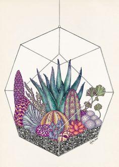 Katie Scott – Terrarium Poster