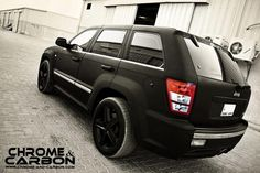Matte black Jeep Grand Cherokee SRT8