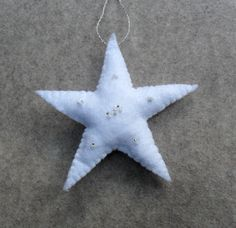Beaded felt star ornament, Joni Russell, Crystal Mist Cottages.
