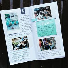 TRAVELER'S NOTEBOOK ~ Love the instax photos on these pages.